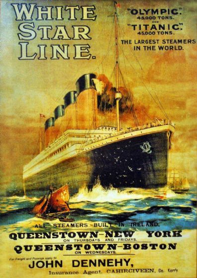 White Star Line Showing the Titanic. Art Print/Poster (5445)